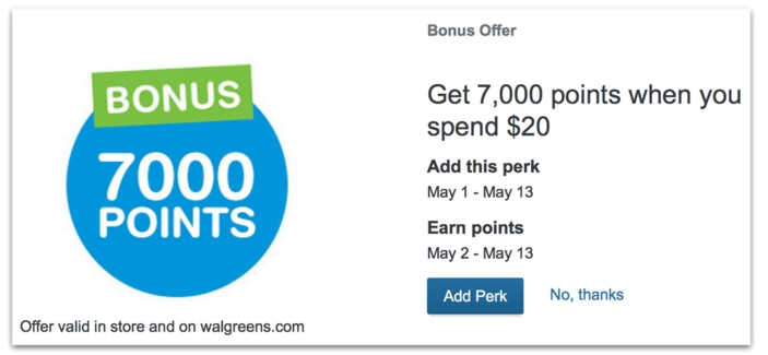 Walgreen's – Possible 7,000 Bonus Balance Rewards With $20 Purchase