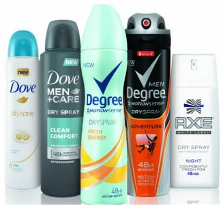$4 off any ONE Male and ONE Female Dove, Degree or AXE Dry Spray Product + Upcoming CVS Deal