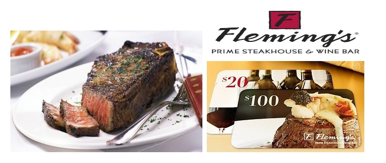 Fleming's Prime Steakhouse – $40 Off $100 Purchase + Free $20 Bonus Gift Card With Purchase Of A $100 Gift Card!