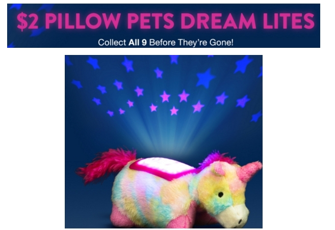 Hollar.com – Pillow Pets Dream Lites Minis AND Adult Coloring Books Only $2 + Free Shipping Over $10 For New Customers