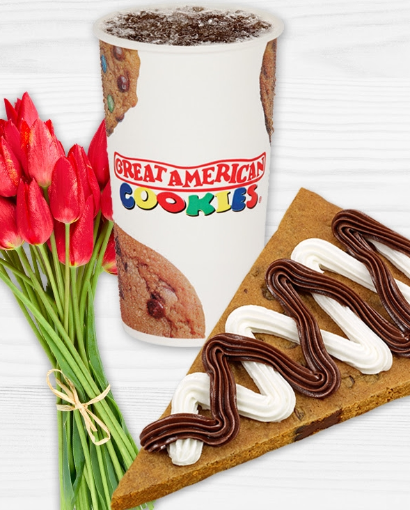 Great American Cookies (Today Only) – Purchase A Cookie Cake Slice And Receive A FREE Regular Drink