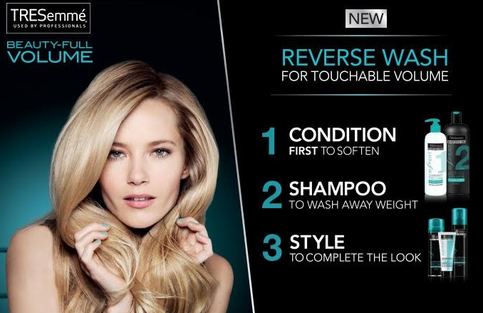 Free Sample of TRESemme Beauty-Full Volume Reverse Wash System