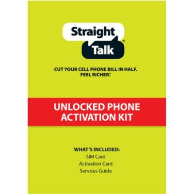 Walmart – Straight Talk AT&T Compatible Standard and Micro SIM Activation Kit Only $0.99  (Reg $6.99) + Free Store Pickup