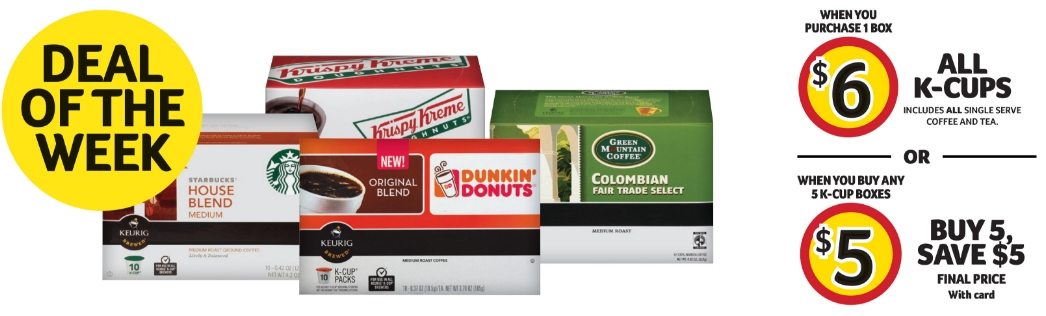 Winn Dixie – All Coffee AND Tea K-Cups $5.00 When You Purchase 5 Boxes (Only $3 each With Coupon)
