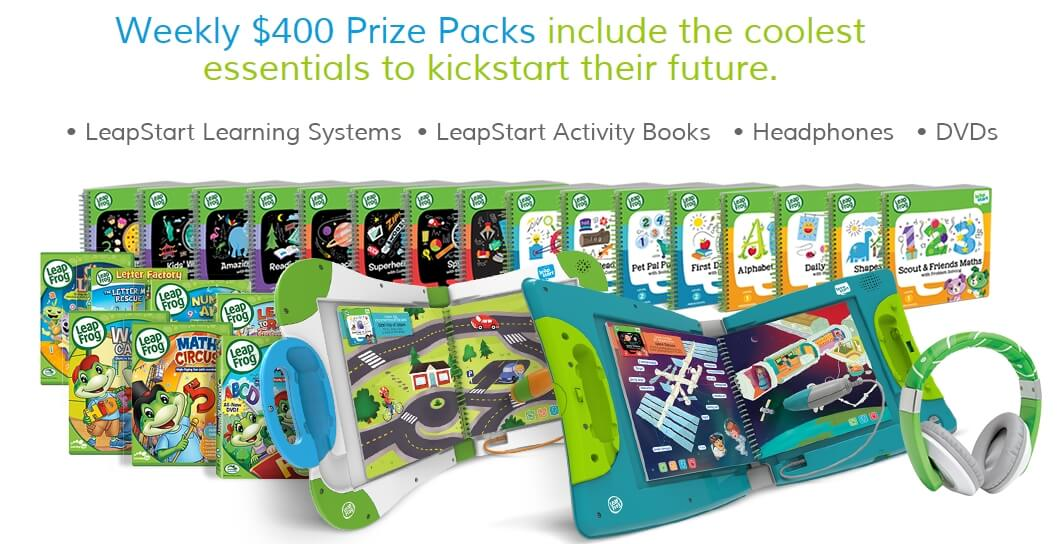 LeapFrog / LeapStart Sweepstakes – Enter to Win A Weekly Drawing For A $400 LeapFrog Prize Package