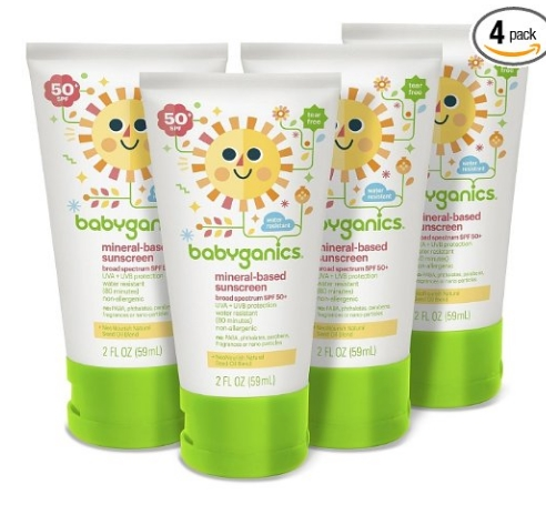 Amazon – FOUR Pack of Babyganics Mineral-Based Baby Sunscreen Lotion Only $12.77 Shipped!