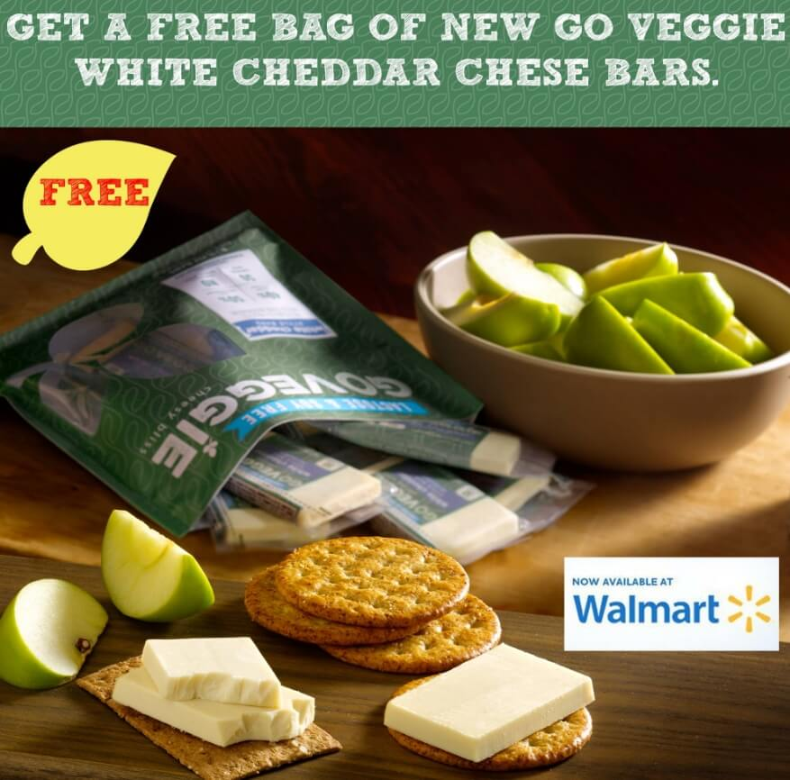 Email For A Free Bag of GO Veggie White Cheddar Cheese Bars ($5 Value)