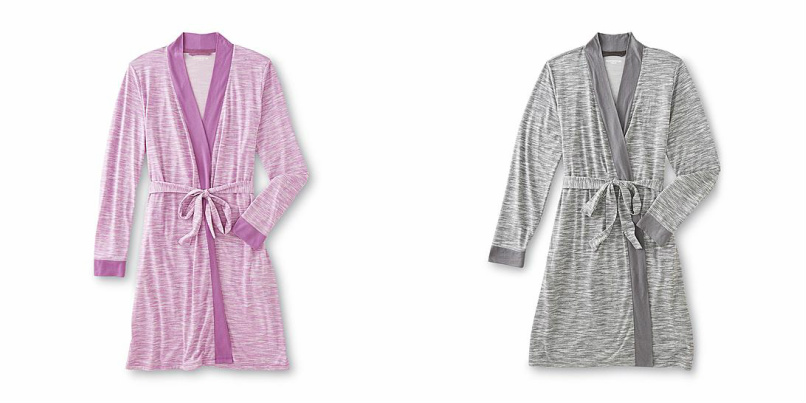ca913157e1 Let this women s knit bathrobe from Covington whisk you away. Crafted from  incredibly soft fabric