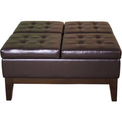 Walmart – Faux Leather Cocktail Storage Ottoman, Square Only $146.15 (Reg $158.33) + Free Shipping