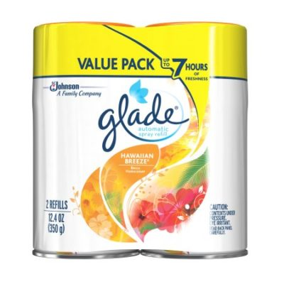 Walmart – Glade Automatic Spray Air Freshener Refill, Hawaiian Breeze, 6.2 Ounces, 2 count Only $7.48 (Reg $8.47) + Free Store Pickup