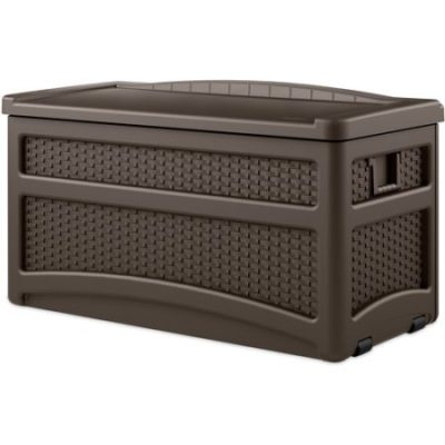 Walmart – Suncast 73-Gallon Wicker Deck Box, Java Only $78.00 (Reg $104.46) + Free Shipping