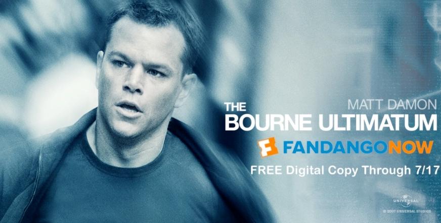 FandangoNOW – FREE Digital Copy of The Bourne Ultimatum Starring Matt Damon