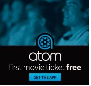 Free Movie Ticket with the Atom Tickets App (Select States)