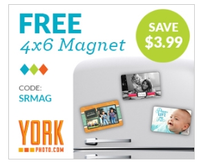 York Photo – FREE Custom 4×6 Magnet $1.99 Shipped (New Members Only)