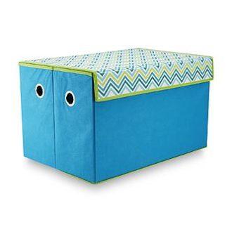 Kmart – Bintopia Collapsible Storage Trunk – Teal w/Chevron Print Lid Only $7.99 (Reg $15.99) + Free Store Pickup