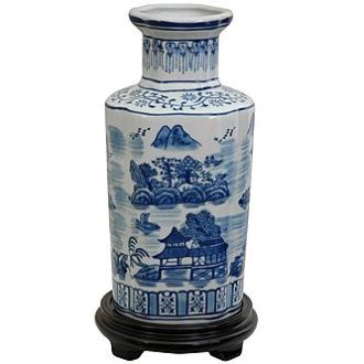 Sears – Oriental Furniture 12″ Landscape Blue & White Porcelain Vase Only $49.34 (Reg $72.99) + Free Shipping