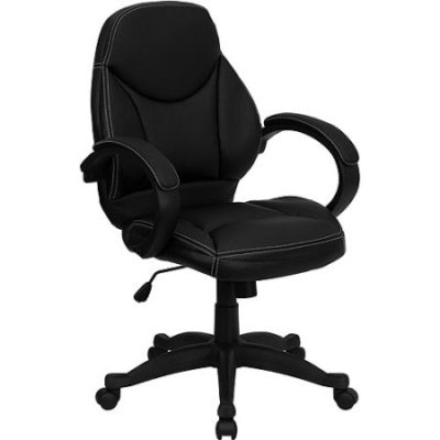 Walmart – Contemporary Leather Mid-Back Office Chair, Black Only $95.23 (Reg $148.00) + Free Shipping