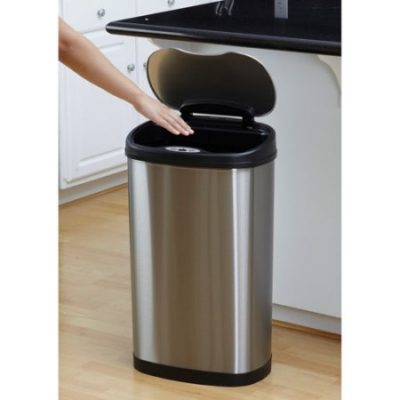 Walmart – Nine Stars 13.2-Gallon Stainless Steel Oval Sensored Trash Can with Stainless Steel Lid Only $52.37 (Reg $68.00) + Free Shipping