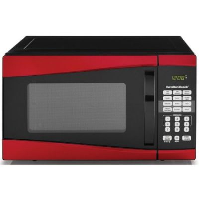 Walmart – Hamilton Beach 0.9 cu ft 900W Microwave, Red Only $59.00 (Reg $63.00) + Free Shipping