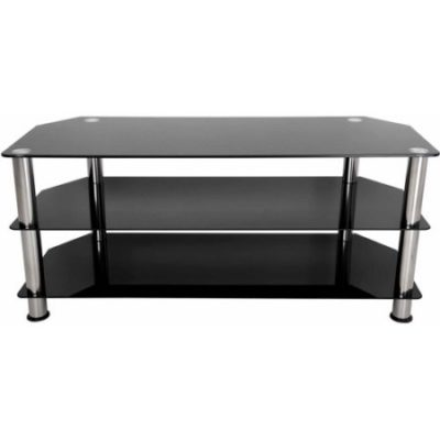 Walmart – AVF Black Glass Floor Stand With Chrome Legs For TVs Up To 55″ Only $92.67 (Reg $118.00) + Free Shipping