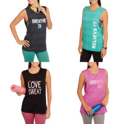 Walmart – Danskin Now Women's Fitspiration Burnout Muscle Tank Only $5.50 (Reg $8.44) + Free Store Pickup