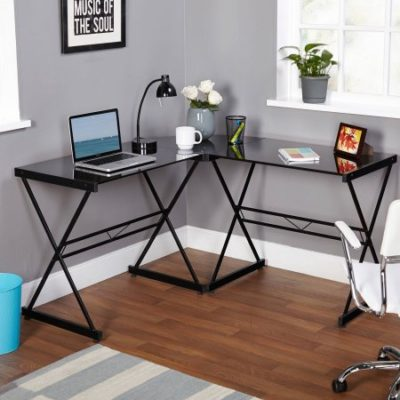 Walmart – Atrium Metal and Glass L-Shaped Computer Desk, Multiple Colors Only $79.00 (Reg $99.88) + Free Shipping