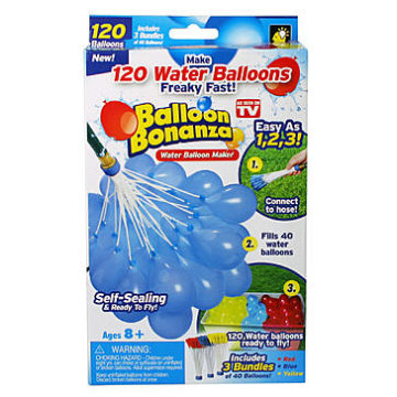 Kmart – As Seen On TV Balloon Bonanza Water Balloon Maker – 120 Count Only $5.00 (Reg $9.99) + Free Store Pickup