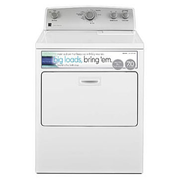 Sears – Kenmore 65132 7.0 cu. ft. Electric Dryer w/ SmartDry Plus Technology – White Only $398.99 (Reg $719.99) + Free Store Pickup