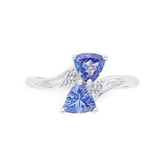 Sears – 1.05 Cttw. Tanzanite & White Topaz Sterling Silver Trillion Cut Ring – Size 7 Only Only $14.99 (Reg $299.99) + Free Store Pickup