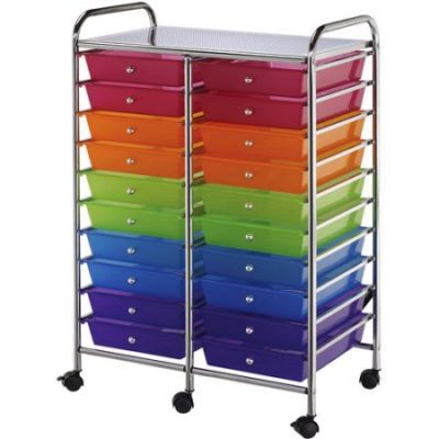 Walmart – Double Storage Craft Cart With 20 Multicolor Drawers Only $89.99 (Reg $114.99) + Free Shipping