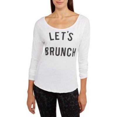 Walmart – Signorelli Women's Let's Brunch Scoop Neck Long Sleeve T-Shirt Only $3.00 (Reg $11.88) + Free Store Pickup