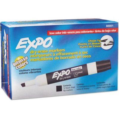 Walmart – EXPO Low Odor Dry Erase Marker, Chisel Tip, Black, Dozen Only $13.88 (Reg $15.88) + Free Store Pickup
