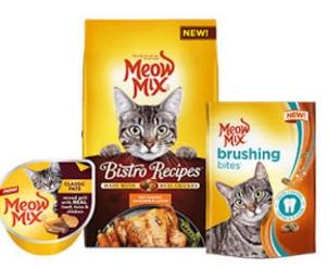 Free Meow Mix Brushing Bites Treats & Pate Wet Cups!