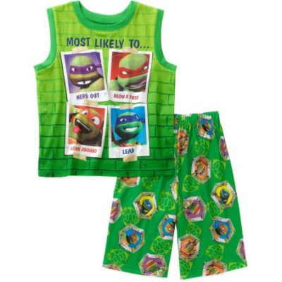 Walmart – Teenage Mutant Ninja Turtles Boys' Licensed Muscle Sleep Shirt and Shorts 2-Piece Pajama Set Only $4.00 (Reg $9.87) + Free Store Pickup