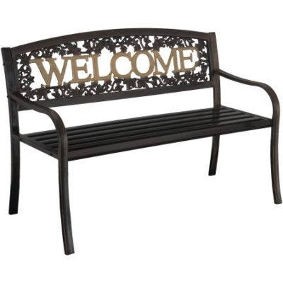 Walmart – Leigh Country Welcome Bench, Black/Gold Only $89.00 (Reg $99.00) + Free Shipping