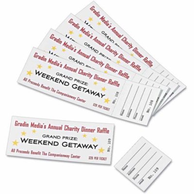 Walmart – Avery Printable Tickets With Tear-Away Stubs, 1-3/4″ x 5-1/2″, Matte White, 200 Tickets/Pack Only $5.76 (Reg $6.13) + Free Store Pickup