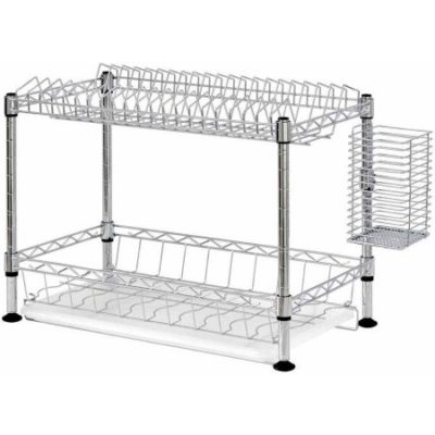 Walmart – Two-Tier Wire Dish Rack, Chrome Only $25.35 (Reg $33.26) + Free Store Pickup
