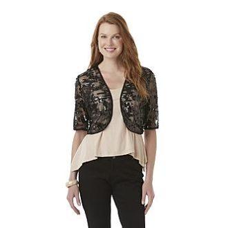 Sears – Covington Women's Sequin Shrug Only $7.99 (Reg $70.00) + Free Store Pickup