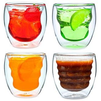 Sears – Ozeri Curva Artisan Series Double Wall Beverage Glasses and Tumblers by Ozeri – Set of 4 Unique 8 oz Drinking Glasses Only $22.50 (Reg $28.95) + Free Store Pickup