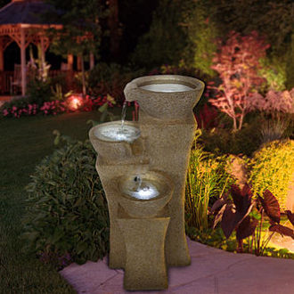 Sears – Pure Garden Cascade Bowls Fountain with LED Lights Only $175.74 (Reg $184.99) + Free Store Pickup