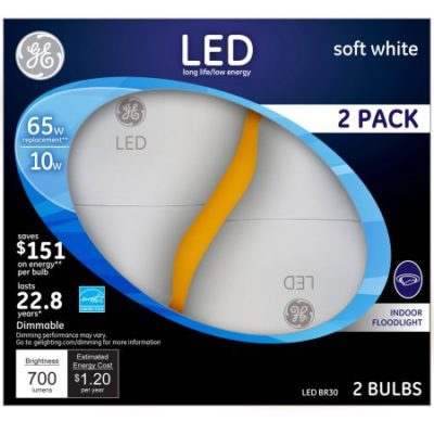 Walmart – GE Energy Smart 10W R30 LED Bulb, 2pk Only $13.89 (Reg $19.84) + Free Store Pickup