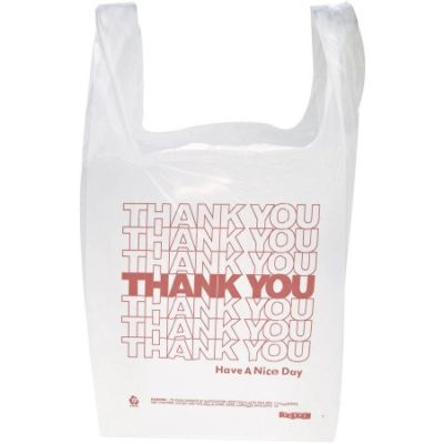 """Walmart – Inteplast Group Polyethylene """"Thank You"""" Handled T-Shirt Bags, White, 900 Count Only $17.42 (Reg $38.35) + Free Store Pickup"""