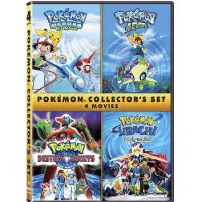 Walmart – Pokemon Collector's Set: Pokemon 4Ever / Pokemon Heroes / Pokemon Destiny Deoxys / Pokemon Jirachi: Wish Maker (Widescreen) Only $5.00 (Reg $9.98) + Free Store Pickup