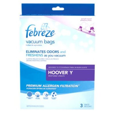 Walmart – Febreze Vacuum Bags, Hoover Style Y, Pack of 3 Only $3.38 (Reg $5.98) + Free Store Pickup