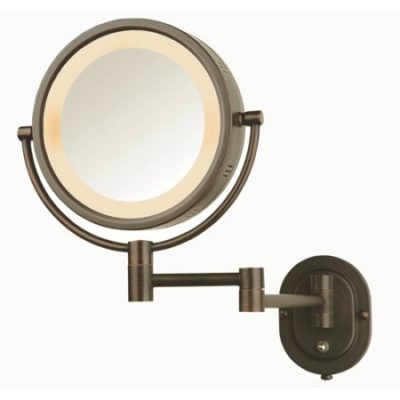 Walmart – Jerdon Hard-Wired 8″ 2-Sided Swivel Halo-Lighted Wall Mount Mirror with 5x Magnification, 14″ Extension, Bronze Only $50.00 (Reg $72.00) + Free Shipping
