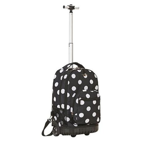 Sears – Rockland Fox Luggage 19″ Rolling Backpack, Black Dot Only $48.74 (Reg $72.00) + Free Store Pickup