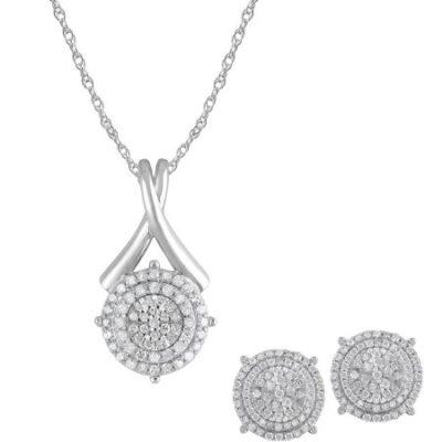Walmart – 1 Carat T.W Diamond Sterling Silver Pendant and Earrings Box Set, 3 Piece Only $199.00 (Reg $500.00) + Free Shipping
