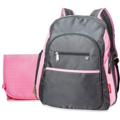 Walmart – Fisher-Price Ripstop Backpack Diaper Bag, Grey/Pink Only $17.99 (Reg $28.60) + Free Store Pickup