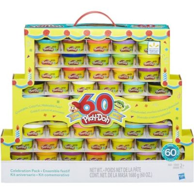 Walmart – Play-Doh 60th Anniversary Celebration 60 Pack Only $14.94 (Reg $19.94) + Free Store Pickup