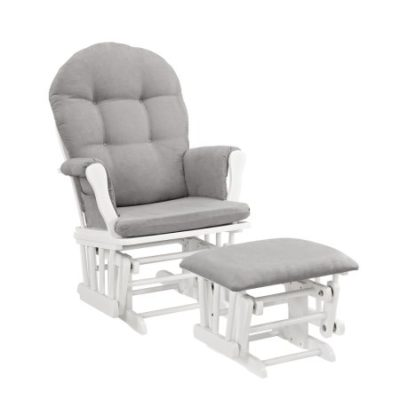 Walmart – Angel Line Windsor Glider and Ottoman, White w/ Gray Cushion Only $125.00 (Reg $144.98) + Free Shipping